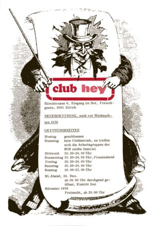 Club Hey, Programm