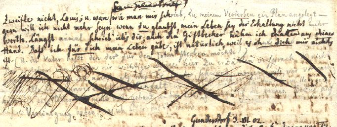 'Hartenbergbrief' Detail